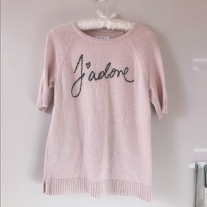 "ELLE ""J'adore"" Pink Sweater"